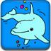 彩绘小海豚