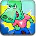 小鳄鱼玩滑板