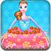 冰雪公主蛋糕装饰