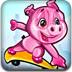 动物明星玩转滑板