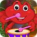 救援红色小螃蟹