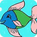 鱼涂色画本