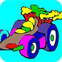 玩具汽车图画册
